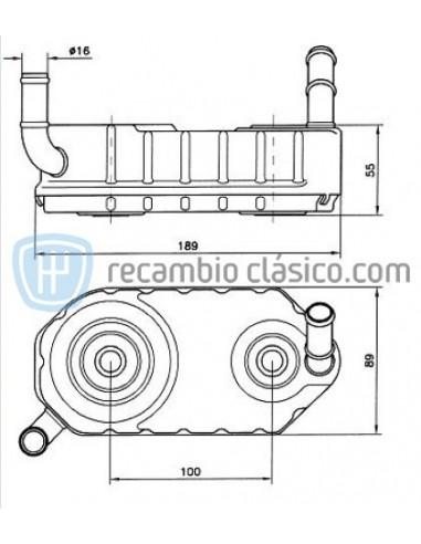Comprar Radiador de aceite AUDI A3 1.9 TDI online