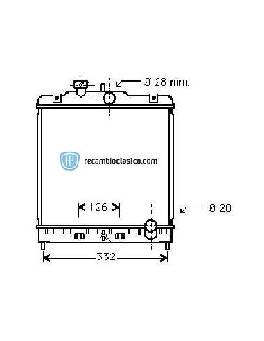 Comprar Radiador refrigeración HONDA Civic 1.3/1.5 Toyo/Denso