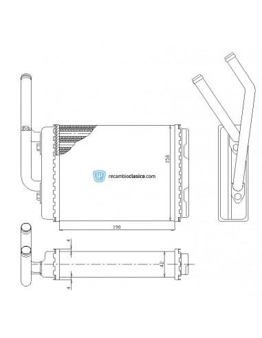 Comprar radiador de calefacción RENAULT Twingo 92- online