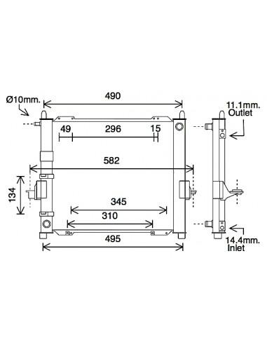 Comprar Radiador refrigeración RENAULT Twingo I 1.2 96- online