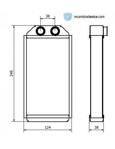 Comprar radiador de calefacción TOYOTA Starlet (P9) 96-99 //